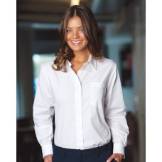 Womens White Long Sleeve Business Shirt