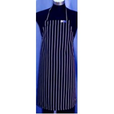 F&H Black & White Stripe Apron - Large