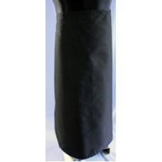 Long waist Poly Cotton Black apron