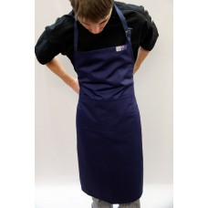 Small - Navy Bib & Pocket Apron P/Cotton