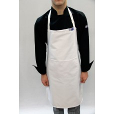 Small - White Bib & Pocket Apron P/Cotton