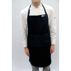 Small - Black Bib & Pocket Apron P/C