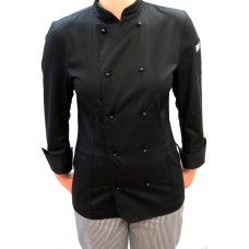 F&H Women's Black Chef Jacket - L/Sleeve