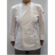 F&H Womens Chef Jacket - White L/SLeeve