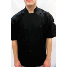 F&H Modern Chef Jacket - Black S/SLeeve