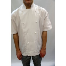 F&H Modern Chef Jacket - White S/SLeeve