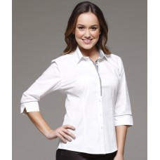 ICMS Ladies White Long sleeve Shirt