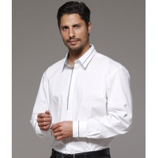 ICMS Mens White Long Sleeve Shirt